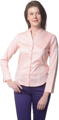 Meira Women's Solid Casual Beige Shirt at flipkart
