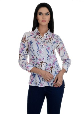 Aarohee Women's Floral Print Casual Multicolor Shirt