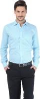 Basics Formal Shirts (Men's) - Basics Men's Striped Formal Light Blue Shirt