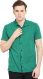 Smokestack Men's Solid Casual Green Shir...