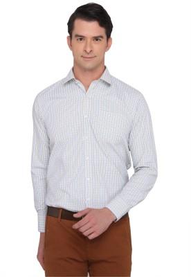 Donear NXG Men's Checkered Formal Green Shirt