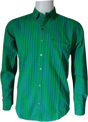 Ardeur Men's Checkered Casual Green, Blue Shirt