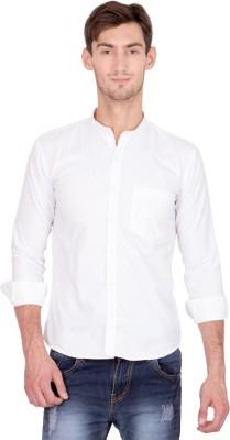 Shaurya-F Men's Solid Casual White Shirt