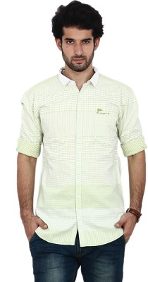 FRD13 Men's Solid Casual Green Shirt
