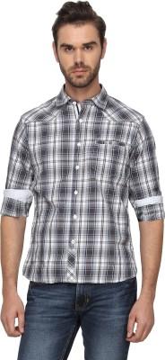 T-Base Men's Checkered Casual Brown Shirt