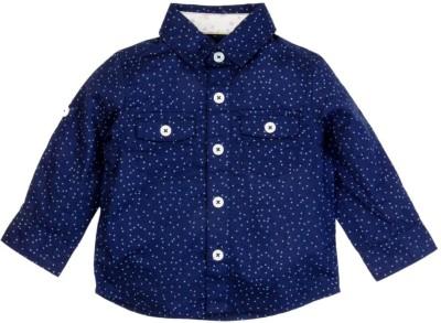 Mom & Me Baby Boy's Polka Print Casual Blue Shirt
