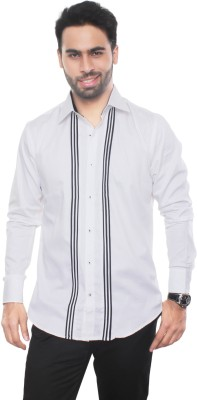 VinaraTrends Men's Solid Casual White Shirt