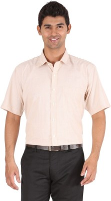 Frank & Jones Men,s Striped Formal Beige Shirt