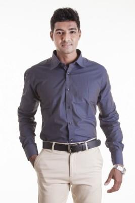 Sting Men,s Solid Formal Blue Shirt
