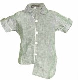 Lil Poppets Boys Solid Casual Linen Grey...