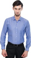 Only Vimal Formal Shirts (Men's) - Only Vimal Men's Solid Formal Blue Shirt