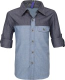 Tickles By Inmark Boys Solid Casual Blue...