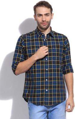 Arrow Sport Men's Checkered Casual Blue, Yellow Shirt