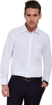 Urban Nomad By INMARK Men's Solid Formal White Shirt