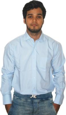 ZHENTZ Men's Solid Formal Blue Shirt