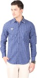 Cotton County Men's Checkered Casual Pur...
