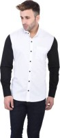 Yasna Formal Shirts (Men's) - Yasna Men's Solid Formal White, Black Shirt