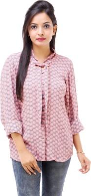 Inblue Fashions Women's Printed Casual Grey Shirt
