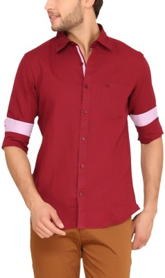 Classic Polo Men's Checkered Casual Red Shirt