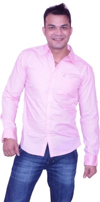 Trish Men's Solid Casual Pink Shirt