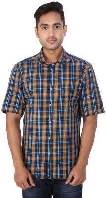 Warewell Men's Checkered Casual Multicolor Shirt