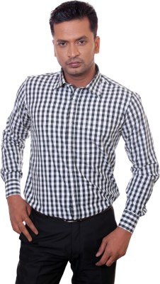 Countryside Men's Checkered Formal Black Shirt