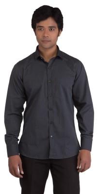 BearBerry Men's Striped Casual Grey, Black Shirt