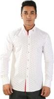 Just Differ Formal Shirts (Men's) - Just Differ Men's Self Design Formal White Shirt