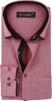 Balkin Formal Shirts (Men's) - BALKIN Men's Self Design Formal Maroon Shirt