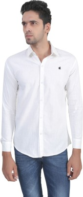 Apurva Men's Solid Casual White Shirt