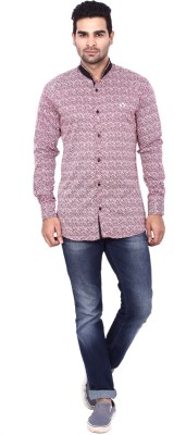 Coloroid Men's Printed Casual Pink, Red, White, Black Shirt