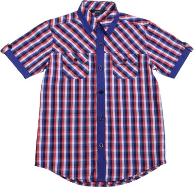 Swan Fashion Boy's Checkered Casual Reversible Blue, Pink Shirt