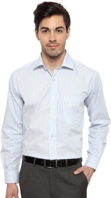 Van Heusen Men's Striped Formal White Shirt