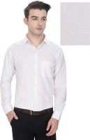 Enf Formal Shirts (Men's) - EnF Men's Self Design Formal White Shirt