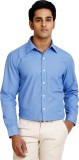 Zenrio Men's Solid Formal Blue Shirt
