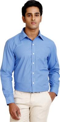 Zenrio Men's Solid Formal Blue Shirt