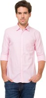 Mode Manor Formal Shirts (Men's) - Mode Manor Men's Solid Formal Pink Shirt