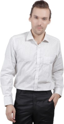 Jorzzer Roniya Men's Printed Casual White Shirt