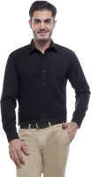 English Navy Formal Shirts (Men's) - English Navy Men's Solid Formal Black Shirt