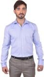 Success Men's Solid Formal Blue Shirt