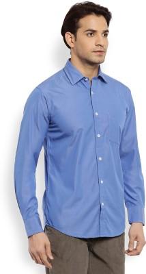 Color Plus Men's Solid Casual Blue Shirt