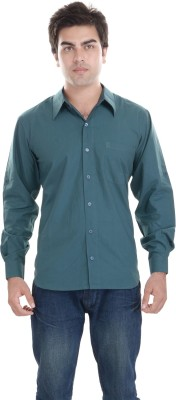 Kalrav Men's Solid Casual Grey Shirt