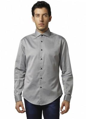 Karsci Men's Solid Lounge Wear Grey Shirt