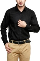 Willowy Formal Shirts (Men's) - WILLOWY Men's Solid Formal Black Shirt