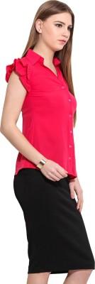 Desi Urban Women's Printed Casual Maroon Shirt