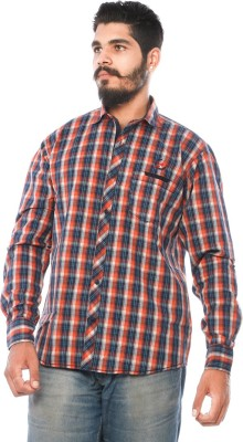 LWW Men's Checkered Casual Red Shirt