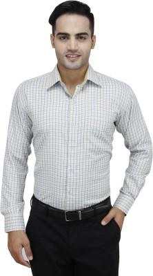 Da Vinci Men's Checkered Formal Multicolor Shirt