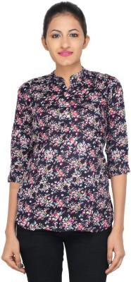 LondonHouze Women's Floral Print Casual Multicolor Shirt
