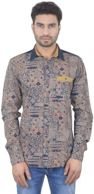 Ecohawk Men's Printed Casual Multicolor Shirt