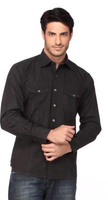 Fire & Ice Men's Woven Casual Black Shirt